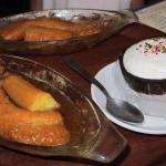 desserts banane flambée