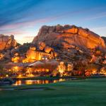 Boulders Resort & Spa - Boulder formation at dusk