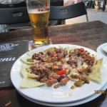 Nachos and cold beer