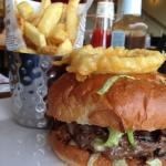 Tasty burger at Harry Ramadans