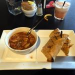 Steak Wrap & Chicken Gumbo Soup