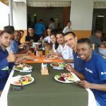 Almoço com colegas do trabalho