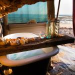 Have a relaxing bath with an oceanview