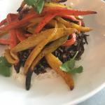 Heirloom carrots and wild rice