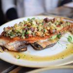 Grilled Fish with Butter Beans