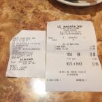 menu normalement à 31€ + 2€ de nan probleme encaissement d'un menu a la carte