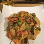 Bœuf sauce curry thaï panang