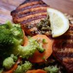 Salmon with Lemon Caper Sauce