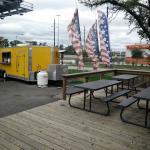 Bernie's Backyard Food truck near road
