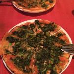 The spinach and garlic pizza, ordered without cheese. Really really good.
