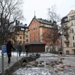 Praça em frente ao Hotel Bema
