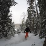 Tour du lac en raquettes…un régal!