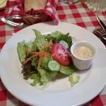 Crisp salad with homemade French Vinaigrette