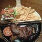 Steak in a skillet