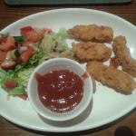 Chicken goujon starter
