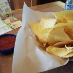 Fresh chips and spicy salsa