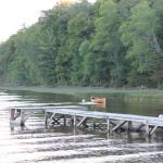 The dock and one of the rowboats