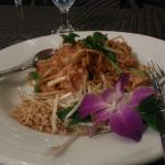 Pad Thai w/orchid & Emerald Rain (dinner special)