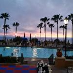 Main pool at sunset at Marriott's Newport Coast Villas