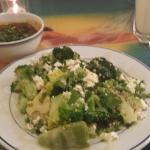 Superfood salad and black bean mezze