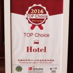 RECOMPENSE HOTEL CHOICE ASIE