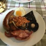 Cracking full English with proper leaf tea  Excellent quality fare