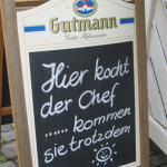 Schild am Hotel am Markt