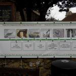 Local history outside Jireh House.