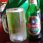 Frosty mug of Tsingtao