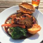 Mixed roast- beef lamb pork and chicken! £13.95. March 2016.
