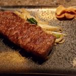The Kobe beef after having been cooked