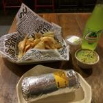 Spicy Chicken Burrito and Guac