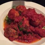 Zucchini Linguini and meatballs