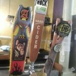 Selection of local beer on tap