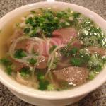 Pho Saigon (beef, tendon, tripe, and meatball)