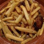 Chicken tagine was disappointing coming with fries!