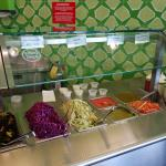 The self-serve salad bar