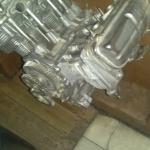 Air-cooled motor built into bar