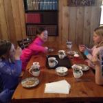 kids enjoying afternoon cookies and hot chocolate