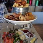 Beautifully served seafood platter