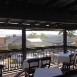 This is the balcony where breakfast is had with a lovely view across Morpeth