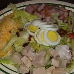 Half portion chef salad.