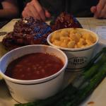 Tri-Tip and Ribs. BBQ Beans and Mac & Cheese.