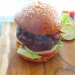 Basic Burger with caramelized onions