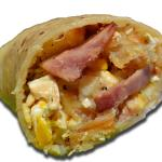 ham, potato & egg burrito