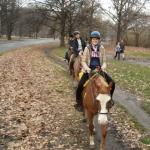 Enjoying the trails of Prospect Park on horseback