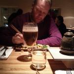 Sushi and Stella Artois at Rub23