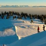 Randonnée à pied et en ski du haut de la montagne