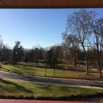 La vue depuis le balcon de notre chambre.