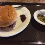 Beef Brisket Sandwich with Green Beans